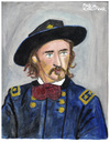 Cartoon: General Custer (small) by Pascal Kirchmair tagged general,george,armstrong,custer,little,bighorn,black,hills,portrait,retrato,ritratto,caricature,karikatur,vignetta,dessin,zeichnung,drawing,illustration,dibujo,desenho