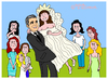 Cartoon: George Clooney (small) by Pascal Kirchmair tagged amal alamuddin hochzeit cartoon karikatur george clooney mariage dessin humour humoristique caricature