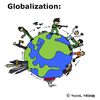 Cartoon: Globalisierung (small) by Pascal Kirchmair tagged globalisation globalization globalisierung war economy politik politics usa poor rich countries