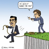 Cartoon: Grexit (small) by Pascal Kirchmair tagged alexis,tsipras,greccident,grexit,jeroen,dijsselbloem,eu,greece,griechenland,chaos,cartoon,karikatur,caricature