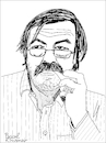 Cartoon: Günter Grass (small) by Pascal Kirchmair tagged günter grass german novelist poet playwright illustrator graphic artist sculptor nobel prize literature caricature cartoon karikatur portrait retrato pascal kirchmair dibujo drawing desenho zeichnung portret ritratto cartum tekening teckning dessin ilustracion ilustracao illustrazione illustration illustratie danzig germany lübeck schriftsteller beim häuten der zwiebel blechtrommel autor künstler maler zeichner grafiker