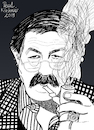 Cartoon: Günter Grass (small) by Pascal Kirchmair tagged günter grass illustration drawing zeichnung pascal kirchmair cartoon caricature karikatur ilustracion dibujo desenho ink disegno ilustracao illustrazione illustratie dessin de presse du jour art of the day tekening teckning cartum vineta comica vignetta caricatura portrait retrato ritratto portret kunst writer author autor autore auteur schriftsteller danzig lübeck germany deutschland nobel prize literature literatur premio prix literatura nobelpreis beim häuten der zwiebel blechtrommel tin drum