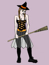 Cartoon: HALLOWEEN (small) by Pascal Kirchmair tagged hexe,witch,sexy,halloween,costume,verkleidung,cartoon,hexenbesen,hallo,wien,sorciere,witchcraft,balai,broom,besom,brush