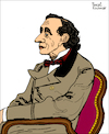 Cartoon: Hans Christian Andersen (small) by Pascal Kirchmair tagged hans christian andersen portrait retrato drawing dibujo desenho zeichnung illustration ilustracion pascal kirchmair ilustracao disegno dessin illustrazione illustratie tekening teckning portret porträt cartoon caricature karikatur cartumn ink caricatura