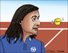Cartoon: Ilie Nastase (small) by Pascal Kirchmair tagged ilie,nastase,caricature,karikatur,cartoon,portrait,tennis,dessin,drawing,zeichnung,rumänien,romania