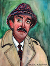 Cartoon: Inspector Clouseau (small) by Pascal Kirchmair tagged inspektor,chief,inspector,inspecteur,jacques,clouseau,peter,sellers,pink,panther,portrait,karikatur,retrato,caricature,dibujo,ritratto,drawing,porträt,cartum,cartoon,portret,zeichnung,dessin,desenho,disegno,illustration,aquarell,watercolour