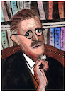 Cartoon: James Joyce (small) by Pascal Kirchmair tagged james,joyce,portrait,retrato,dibujo,drawing,illustration,ilustracion,ilustracao,illustrazione,caricature,pascal,kirchmair,caricatura,dublin,ireland,irlanda,tekening,illustratie,portret,cartum,cartoon