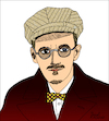 Cartoon: James Joyce (small) by Pascal Kirchmair tagged james joyce caricature cartoon karikatur portrait retrato pascal kirchmair dibujo drawing desenho zeichnung portret ritratto cartum tekening teckning dessin ilustracion ilustracao illustrazione illustration illustratie dublin ireland irlanda dubliners finnegans wake ulysses