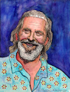Cartoon: Jeff Bridges (small) by Pascal Kirchmair tagged jeff bridges the big lebowski caricature karikatur portrait retrato drawing zeichnung dibujo dessin porträt ilustracao ilustracion illustration ritratto aquarell watercolour watercolor