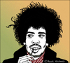 Cartoon: Jimi Hendrix (small) by Pascal Kirchmair tagged jimi,hendrix,portrait,caricature,cartoon,karikatur,pascal,kirchmair,illustration,vignetta,dibujo,desenho,disegno,dessin,drawing,zeichnung