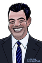 Cartoon: Jimmy Kimmel (small) by Pascal Kirchmair tagged jimmy,kimmel,comedian,talkshow,moderator,cartoon,karikatur,caricature,abc,live,comedy,usa