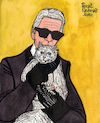 Cartoon: Karl Lagerfeld and Choupette (small) by Pascal Kirchmair tagged monster monsterchoupette choupette coco chanel fashion mode label moda vogue cats katzen gatos gatti chats humour umorismo humorous spirito humor karl lagerfeld illustration drawing zeichnung pascal kirchmair political cartoon caricature karikatur ilustracion dibujo desenho ink disegno ilustracao illustrazione illustratie dessin de presse tekening teckning cartum vineta comica vignetta caricatura