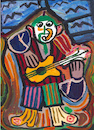 Cartoon: Le Guitariste (small) by Pascal Kirchmair tagged gitarrist,guitarist,guitarrista,after,pablo,picasso,cartoon,caricature,karikatur,drawing,zeichnung,illustration,illustrazione,pascal,kirchmair,ilustracion,portrait,retrato,dibujo,desenho,ritratto,disegno,ilustracao,illustratie,dessin,du,jour,art,of,the,day,tekening,teckning,cartum,vineta,comica,vignetta,caricatura,acryl,acrilico,acrylique,acrylic