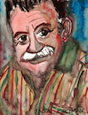 Cartoon: Mario Benedetti (small) by Pascal Kirchmair tagged mario benedetti caricatura retrato desenho dibujo drawing dessin zeichnung cartoon cartum karikatur portrait journalist dichter schriftsteller uruguay escritor ecrivain scrittore poet poeta montevideo orlando hamlet hardy brenno farugia pascal kirchmair illustration cuadro quadro disegno aquarell watercolour porträt dipinto pintura