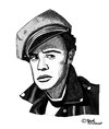 Cartoon: Marlon Brando (small) by Pascal Kirchmair tagged marlon,brando,karikatur,zeichnung,drawing,dessin,caricature,portrait,cartoon