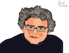 Cartoon: Michel Onfray (small) by Pascal Kirchmair tagged michel onfray philosoph philosophe philosopher autor schriftsteller author cartoon caricature karikatur ilustracion illustration pascal kirchmair dibujo desenho drawing zeichnung disegno ilustracao illustrazione illustratie dessin de presse du jour art of the day tekening teckning cartum vineta comica vignetta caricatura humor humour portrait retrato ritratto portret porträt normandie france argentan french writer atheism anarchism philosophy