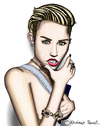 Cartoon: Miley Cyrus (small) by Pascal Kirchmair tagged miley,cyrus,caricature,karikatur,portrait,cartoon,usa