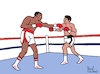 Cartoon: Muhammed Ali vs. Larry Holmes (small) by Pascal Kirchmair tagged larry,holmes,boxer,muhammed,ali,cassius,clay,boxeur,boxing,heavy,weight,championship,dibuix,illustration,drawing,zeichnung,pascal,kirchmair,cartoon,caricature,karikatur,ilustracion,dibujo,desenho,ink,disegno,ilustracao,illustrazione,illustratie,dessin,de,presse,du,jour,art,of,the,day,tekening,teckning,cartum,vineta,comica,vignetta,caricatura,champion,schwergewicht,schwergewichtsweltmeister,boxeador,pugil,pugilista,pugile,pugilatore