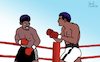 Cartoon: Muhammed Ali vs. Leon Spinks (small) by Pascal Kirchmair tagged boxer,muhammed,ali,cassius,clay,leon,spinks,boxeur,boxing,heavy,weight,championship,dibuix,illustration,drawing,zeichnung,pascal,kirchmair,cartoon,caricature,karikatur,ilustracion,dibujo,desenho,ink,disegno,ilustracao,illustrazione,illustratie,dessin,de,presse,du,jour,art,of,the,day,tekening,teckning,cartum,vineta,comica,vignetta,caricatura,champion,schwergewicht,schwergewichtsweltmeister,boxeador,pugil,pugilista,pugile,pugilatore