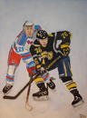 Cartoon: National Hockey League (small) by Pascal Kirchmair tagged nhl,amerikanische,eishockey,liga,vanek,thomas