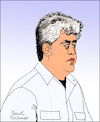Cartoon: Pedro Almodovar (small) by Pascal Kirchmair tagged pedro almodovar cartoon caricature karikatur portrait porträt retrato ritratto vignetta espana regisseur dibujo desenho dessin zeichnung illustration drawing