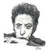 Cartoon: Philip Glass (small) by Pascal Kirchmair tagged philip glass illustration drawing zeichnung pascal kirchmair cartoon caricature karikatur ilustracion dibujo desenho ink disegno ilustracao illustrazione illustratie dessin de presse du jour art of the day tekening teckning cartum vineta comica vignetta caricatura portrait retrato ritratto portret kunst minimal music baltimore maryland composer musician musik musiker komponist usa pencil bleistift