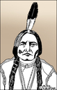 Cartoon: Sitting Bull (small) by Pascal Kirchmair tagged sitting,bull,portrait,karikatur,caricature,cartoon,zeichnung,drawing,indianer,hunkpapa,lakota,sioux,häuptling