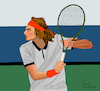 Cartoon: Stefanos Tsitsipas (small) by Pascal Kirchmair tagged stefanos tsitsipas geeece athens athen tennis tenis player atp finals masters grand slam tournament chelem illustration drawing zeichnung pascal kirchmair cartoon caricature karikatur ilustracion dibujo desenho ink disegno ilustracao illustrazione illustratie dessin de presse du jour art of the day tekening teckning cartum vineta comica vignetta caricatura portrait porträt portret retrato ritratto torneo tournoi torneio