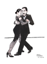 Cartoon: Tango Argentino (small) by Pascal Kirchmair tagged tango,argentino,buenos,aires,cartoon,caricature,karikatur,tanz,dance,ballo,danza,argentinien
