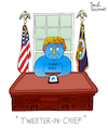 Cartoon: The Tweeter in Chief (small) by Pascal Kirchmair tagged donald trump the tweeter in chief cartoon caricature karikatur pascal kirchmair twitter angry bird dibujo desenho drawing zeichnung illustration ilustracion portrait retrato ritratto disegno ilustracao illustrazione illustratie dessin du jour art of day tekening teckning cartum vineta comica vignetta caricatura