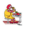 Cartoon: The Unhappy Meal (small) by Pascal Kirchmair tagged alimentation diet ernährung nahrung werbung schlecht gros epais problem probleme nourriture falsche unhappy meal big real reality fat fett dick dickmacher schlechtes essen fast food mac mc donalds ronald mcdonald nutrition