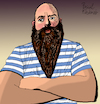 Cartoon: Thebeard Beard (small) by Pascal Kirchmair tagged beefcake,beard,beards,popeye,muscleman,portrait,retrato,ritratto,drawing,dibujo,desenho,disegno,illustration,ilustracion,ilustracao,illustrazione,illustratie,zeichnung,dessin,du,jour,art,of,the,day,tekening,teckning,cartum,cartoon,vineta,comica,vignetta,caricature,caricatura,karikatur,pascal,kirchmair