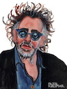 Cartoon: Tim Burton (small) by Pascal Kirchmair tagged tim,burton,caricature,karikatur,portrait,retrato,dibujo,desenho,illustration,drawing,zeichnung,pascal,kirchmair,porträt,ritratto,disegno,dessin,portret,cartum,cartoon,usa,hollywood,ilustracao,ilustracion