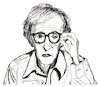 Cartoon: Woody Allen (small) by Pascal Kirchmair tagged woody allen portrait retrato drawing illustration zeichnung ilustracion ilustracao dibujo desenho dessin disegno ritratto pascal kirchmair caricature karikatur cartoon tekening portret cartum teckning caricatura karikatür