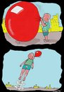 Cartoon: Accidents Do Happen (small) by kar2nist tagged balloon,launching,kids