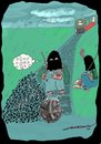Cartoon: damp squib (small) by kar2nist tagged terrorist,train,bomb,rain,railway,track