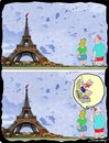 Cartoon: Parisian Bungee Jumper (small) by kar2nist tagged bungee,jumper,eiffel,tower