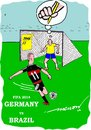 Cartoon: The Foot of God (small) by kar2nist tagged fifa,football,germany,brazil,goals,defeat