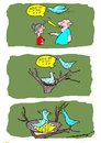 Cartoon: wrong present (small) by kar2nist tagged present,birthday,women,birds