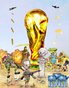 Cartoon: World Cup - South Africa 2010 (small) by Majdoub Abdelwaheb tagged world cup