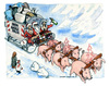 Cartoon: Buon Natale Italia (small) by Niessen tagged pigs garbage trash christmas snow white happy