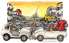 Cartoon: Cars (small) by Niessen tagged cars,crowd,spaghetti,autos,menge