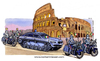 Cartoon: Escort service in rome (small) by Niessen tagged tank,police,politicians,rome,bmw,escort,motorcycle