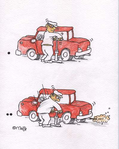 Cartoon: car (medium) by mitya_kononov tagged mityacartoon