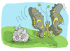 Cartoon: butterfly (small) by mitya_kononov tagged football