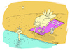 Cartoon: summer (small) by mitya_kononov tagged mityacartoon,summer