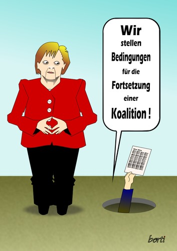 Cartoon: Die Maus die brüllte (medium) by berti tagged die,inkscape,macht,merkel,koalition,cdu,fdp