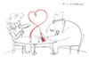 Cartoon: Lovewine (small) by Herme tagged wine love
