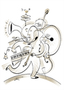 Cartoon: one man band (small) by Herme tagged musicians,band,one,man