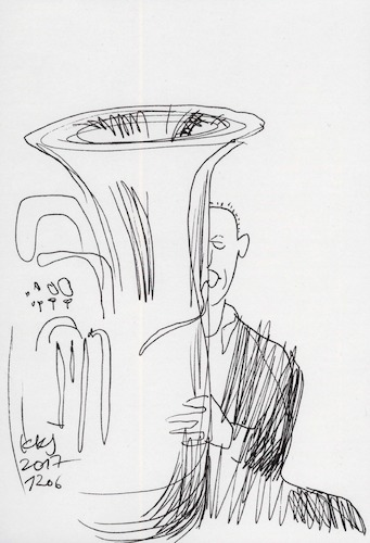 Cartoon: Brass band (medium) by Kestutis tagged brass,band,sketch,kestutis,lithuania,music